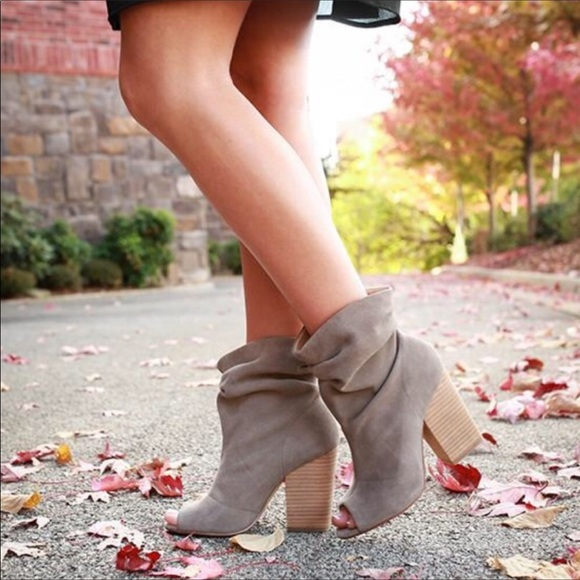 Chinese Laundry Peep Toe Slouch Booties